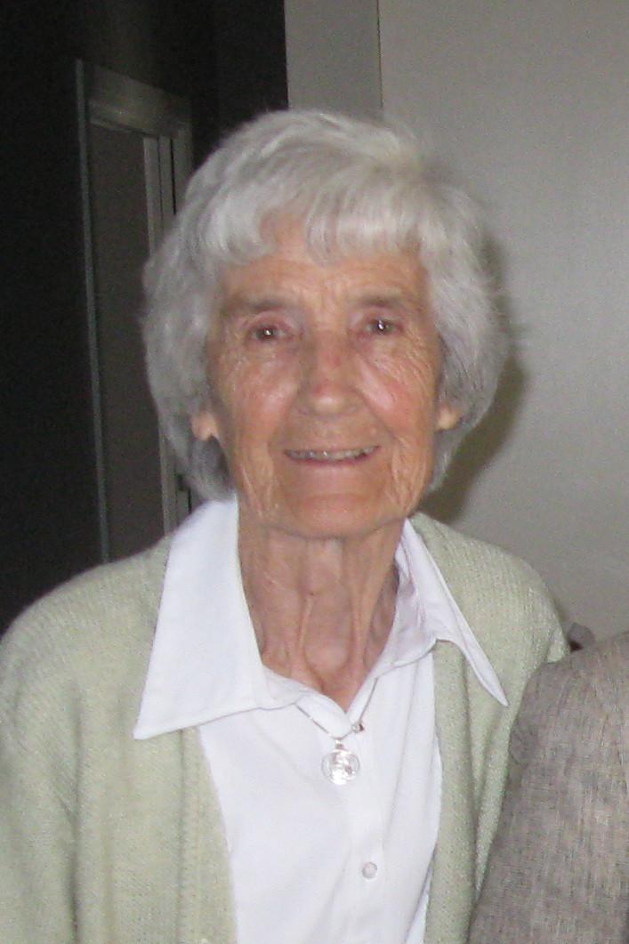 Portrait of Mrs Jean Harrison from front