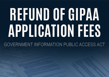 Text stating Refund of GIPAA Application Fees