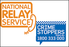 Using the National Relay Service to report a crime to Crime Stoppers