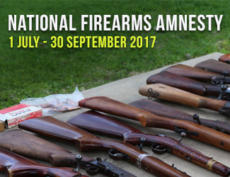 National Firearms Amnesty from 1st July to 30th September 2017