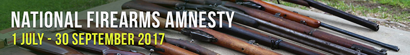 National Firearms Amnesty - from 1 July to 30 September 2017