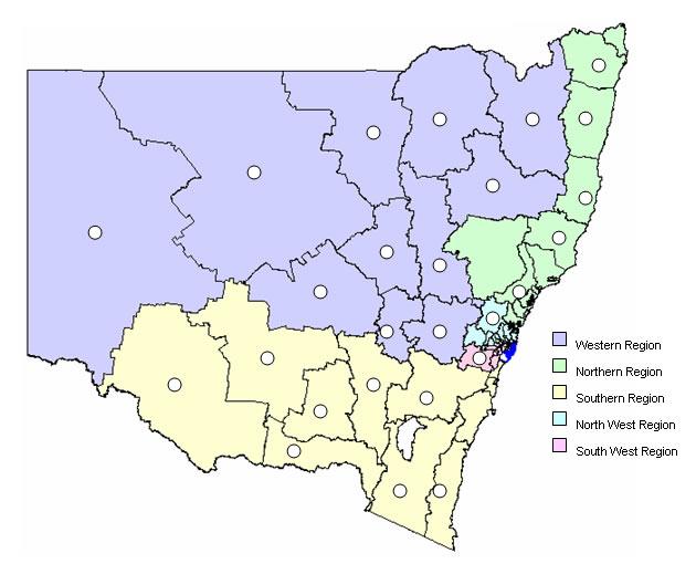Locations of Rural Crime Investigators