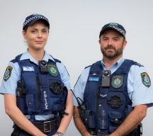 Two Police Officers wearing Body Worn Video
