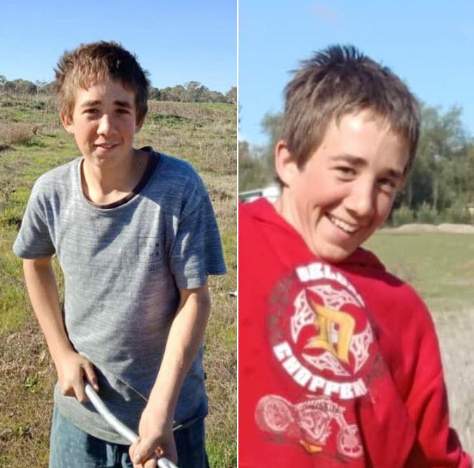 Two photos of Braydon Worldon